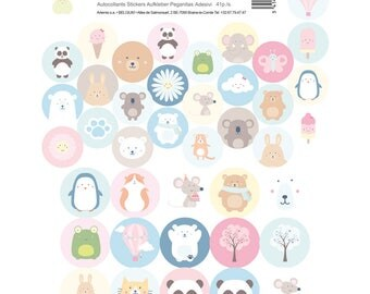 41 Adorable round stickers - Stickers child - child Stickers - stickers Pooh - bear