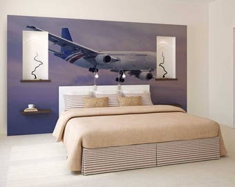 Wall Mural Airplane, Wall Mural Of The Sky, Wall Decal Airplane, Wallpaper Sky