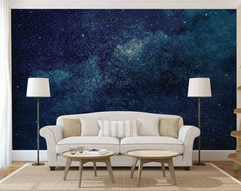 Wallpaper Constellation, Wall Mural Of Space, Wallpaper Dark, Galaxy Wall  Mural, Wall Part 83