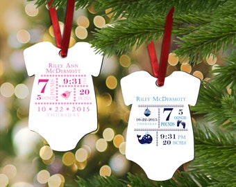 Personalized  Onesie - Keepsake - For Parents - Birthday gift - Christmas gift - Christmas Ornaments - Boy - Girl - New Parents - New Mom -