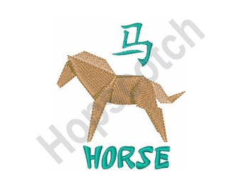 Chinese Horse Symbol - Machine Embroidery Design, Horse, Chinese