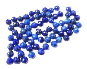 25 pcs Lot 5mm Blue Lapis Round Rose Cut gemstone