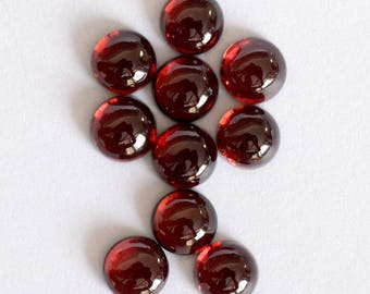 25 pieces 5mm Red Garnet cabochon round gemstone, 100% natural 5mm Red Garnet Round Cabochon gemstone, Red garnet cabochon round gemstone