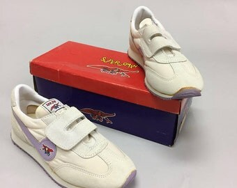 "Vintage Late 1970s Early 1980s Superwoman Girl's Hook and Loop Tennis Shoes Size 2.5 8.25"" New Old Stock Unworn  Dead Stock"