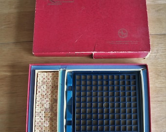 Scrabble RSVP Three Dimensional Crossword Game Selchow & Righter Co 1970 – Complete
