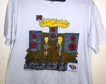 Free Shipping Vintage 90's Beavis and butthead tees Xl size
