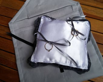 Mini pillow white gray