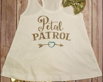 Petal Patrol Shirt, Petal Patrol Tank Top, Flower Girl Wedding Shirt, Flower Girl Rehearsal Tank top, Rehearsal Flower Girl Shirt