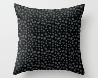 Snow Pillow, Pillowcase, Snowflakes Pillow, Winter Pillow, Winter Decor, Throw Pillow, Pillow Cover, Toss Pillow, Toss Cushion, Sofa Pillow