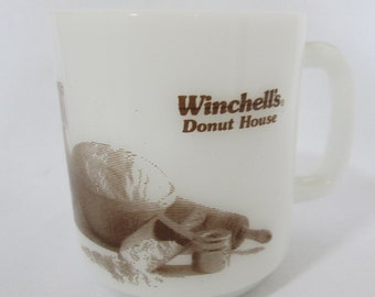 Vintage WINCHELL'S Donut House Glasbake Coffee Mug Cup Glass