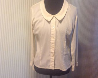 Evan -Picone scoop neck blouse