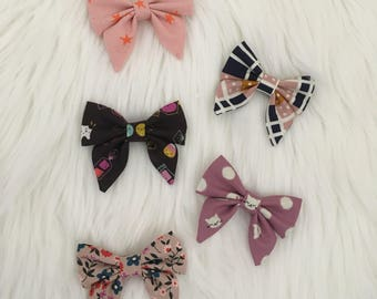 Mini Sailor Bows  | Pigtail Bows | Bow Sets | Bow Bundles | Alligator Clips | Hair Clips | Bows | Toddler Girl Bows | Kitty Bows | Star Bows