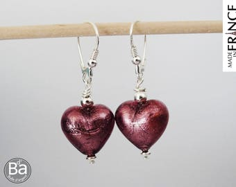Cupid plum earrings