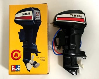 MITSUWA YAMAHA 55 Toy Outboard motor Type A Right Handed Rotation Made in Japan Rare Free shipping HTF Vintage