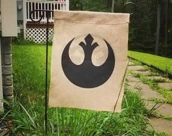 Star Wars - Galactic Empire/Rebel Alliance Two-Sided Burlap Garden Flag