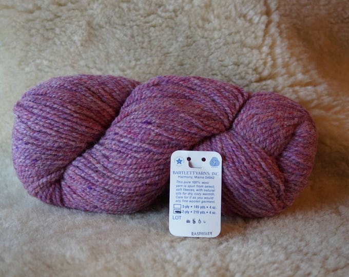 RASPBERRY 2 ply worsted weight wool yarn from Bartlettyarn