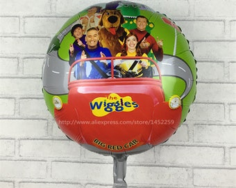 5pcs / lot wiggles foil balloons party supplies helium balloons kids toys gifts