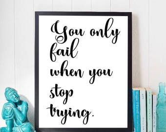 Positive quote poster print - positive quotes art - motivational quote art - inspiring wall art - workplace poster print - workplace decor