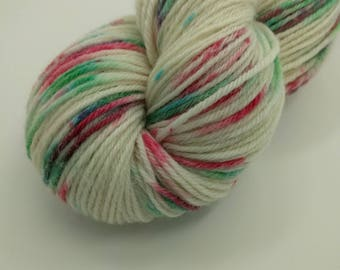 Yarn - Have a Very Speckled Christmas Colorway -100% Wool - Hand Dyed - Knit - Crochet - Sport Weight