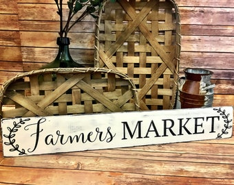 Farmer's Market sign, Farm sign, Vintage Market, shabby chic, distressed, old farm sign, rustic, rustic french, country, french country