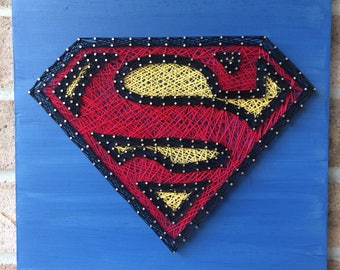 Superman String Art - Father's Day - Kids Room - Superhero - Collector