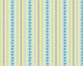 1 yard Flourish Stripe Lime quilt cotton from feathers and Flourish collection from Amanda Murphy for Contempo fabrics