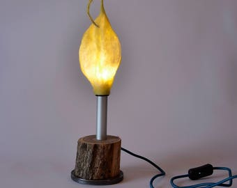 Candle light, Modern Lighting, Lamp, Table Lamp, Desk Lamp, Gift for home, Stylish Lamp, Birthday gift for man or woman, Wood and felt lamp