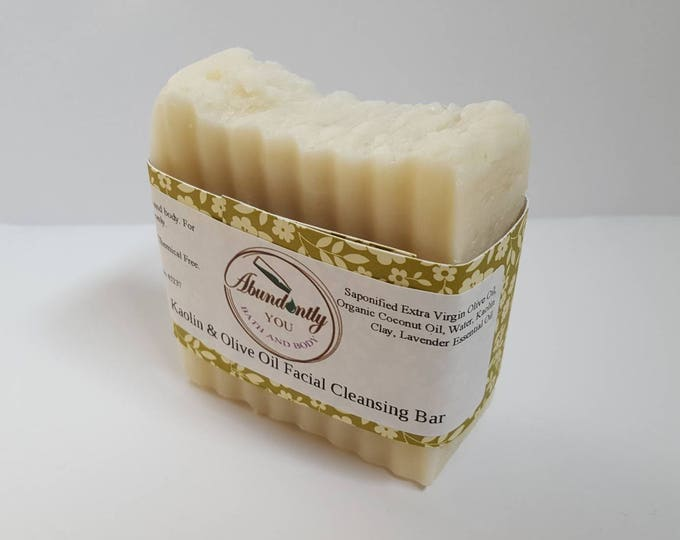 Kaolin Clay and Olive Oil Face and Body Soap Bar | Light Fragrance | Palm Free