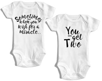 Twins baby gifts for twins - Twins outfits for twin boy and girl - Twin boys twin outfits - Twin girls - Twin clothing for twin girls