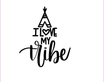 Free Shipping! Love my tribe decal