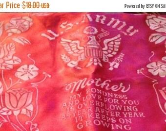 On Sale Vintage WWII Era Satin Pillowcase Camp Pickett, VA