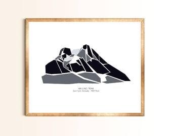Ha Ling Peak - Canmore, Alberta - Premium Mountain Print, Art Print, Wall Art, Mountains Canada