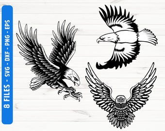 Eagle SVG Cut files for Cricut Silhouette Digital files Commercial use