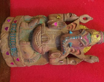 Hand carved Ganesha for the protection of your good fortune..