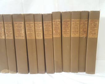 ON SALE, Charles Lamb, Library Edition, Copyright 1888, Works of Charles Lamb, Antiquarian Book Set, Antique Books, Charles Lamb Set, Books