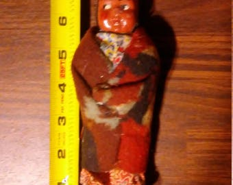 Mary McAboy Native American Authentic Handmade blanket wrapped doll SKookum tribal dolls