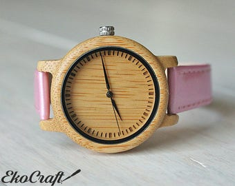 Vegan Women Watch, Wood Watch, Wood Watch for Women, Wooden Watch, Ladies Watch, Womens watch, Wood watches, Vegan Watch, Engraved Watch