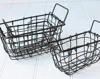 Large wire feltball basket - pre- order