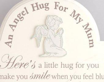 Mum An Angel Hug For My Mum A Little Hug For You Wooden Sign Plaque Graveside Memorial F1069A