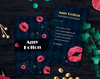 LipSense Business Card, Lip Sense Card, For Independent Distributor, LipSense Card
