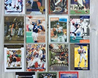 15 Different John Elway Football Cards - Denver Broncos - Broncos Shirt - Standord - Broncos Gift, Gifts for Men