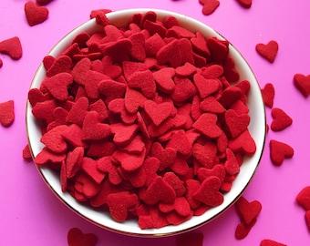 Edible Sprinkles - Jumbo Red Heart Confetti Sprinkles - 3 oz
