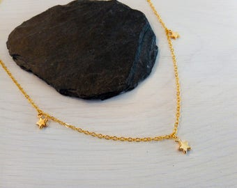 Star necklace - gold - burst design