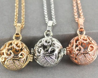 Sparkles Zodiac Aquarius Locket with Fillable Glass Orb, Memorial Jewellery, Memorial Locket, Cremation Jewelry, Cremation necklace