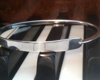 ED LEVIN modernist designer handmade signed vintage BANGLE bracelet >*gorgeous!*<