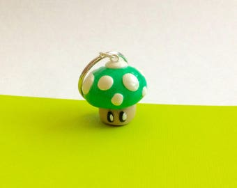 Mario inspired toad keychain