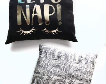 Decorative pillow, Let's Take A Nap, decorative pillow, throw pillow, accent pillow
