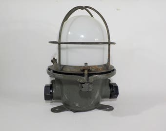 Rare Vintage USSR ship Cage Lamp,Factory Cage  Lamp
