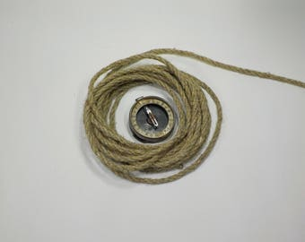 Linen Cord 5 mm ,Natural Linen Twine 5 Yards/4.5 Meters, Eco Friendly Linen Twine,Craft Twine For Driftwood Wall Art, Macrame Craft Cord # 2