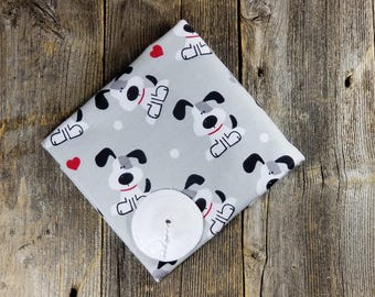 Gtube Pads - Grey Puppies (Bamboo Velour option)